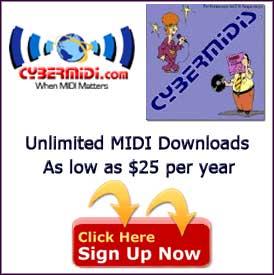 CYBERMIDI Pro MIDI Files, backing tracks for performers, custom MIDI